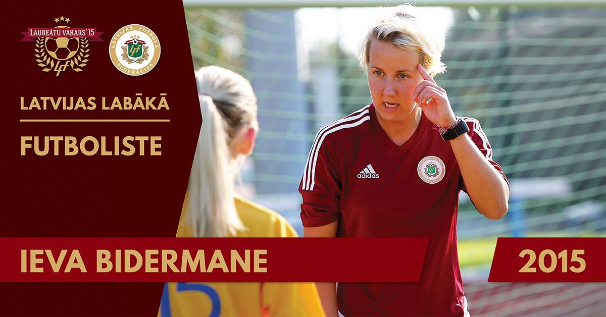 Bidermane voted best player in Latvia
