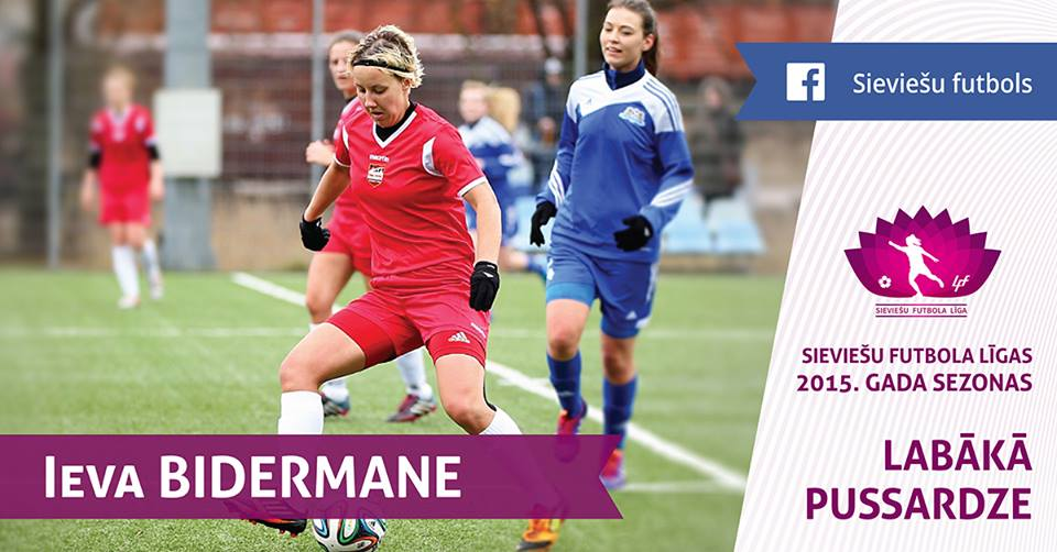 ieva bidermane best midfield player latvia