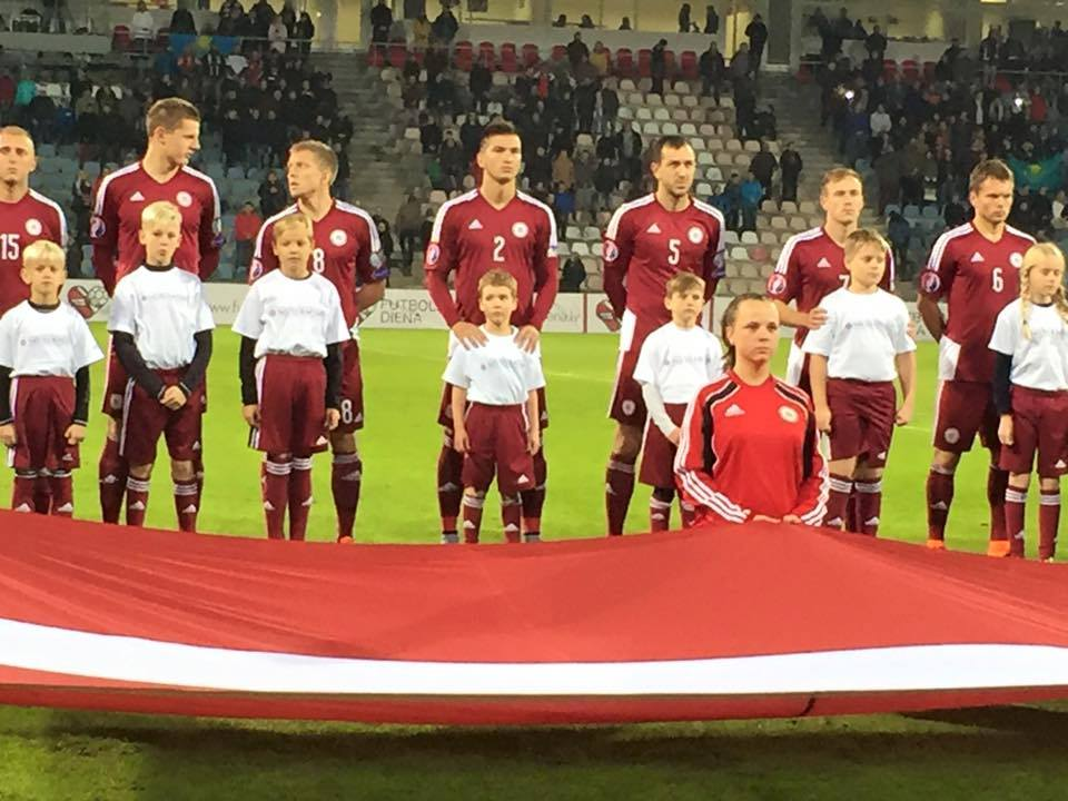 Riga United ball boy Euro 2016 qualifier