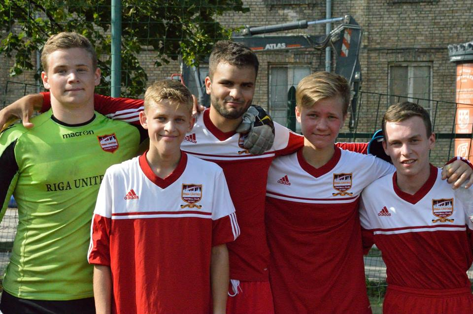 Academy lads play for Riga United men