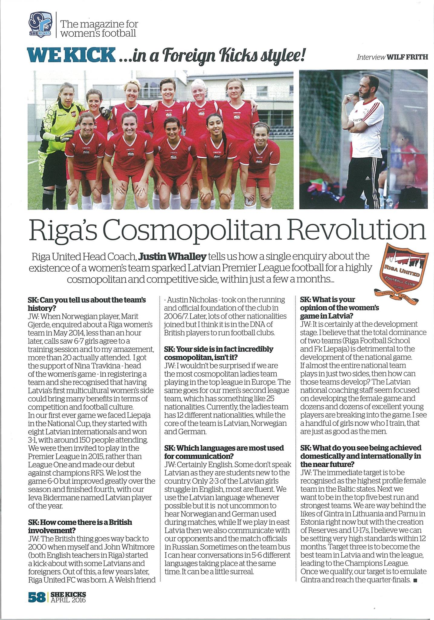 she kicks magazine latvia riga united